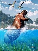 Daniel Eskridge - Lunging Hippo