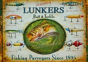 Collects Photo Framed Prints - Lunkers Vintage Bait and Tackle Framed Print by Paul OToole