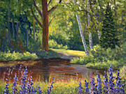 Elaine Farmer - Lupine at the Pond