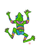 Studio Drawings - Lupita Guanajuato Tree Frog by Emily Lupita Studio