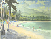 Puerto Rico Painting Metal Prints - Luquillo Beach Metal Print by Marcus Thorne