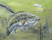 Largemouth Paintings - Lured by Gerald Rader