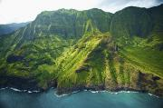 Featured Prints - Lush Na Pali Cliffs Print by Kicka Witte