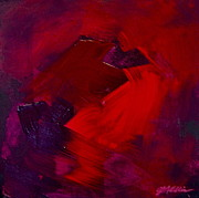 Alizarin Crimson Paintings - Lush Reds by Jim Ellis
