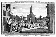 Pentecost Framed Prints - LUTHERAN WEDDING, 1700s Framed Print by Granger
