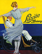 Featured Metal Prints - Luxite 1910s Usa Womens Hosiery Metal Print by The Advertising Archives
