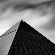 Black And White Photography Acrylic Prints - Luxor Pyramid Acrylic Print by David Bowman