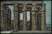 Architecture Textured Art Posters - Luxor Temple Poster by Erik Brede
