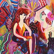 Lesbian Paintings - Luxury by Dareen J Hasan