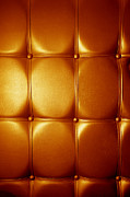 Luxury Genuine Leather. Golden Color Print by Michal Bednarek