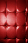 Luxury Genuine Leather. Red Color Print by Michal Bednarek