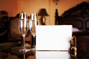Wine Service Photo Metal Prints - Luxury hotel room Metal Print by Michal Bednarek