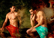 Body Art Photos Posters - Luxury Poster by Mark Ashkenazi