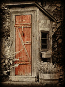 Outhouses Metal Prints - Luxury Outhouse Metal Print by Brenda Conrad