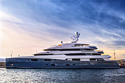 Harbor Photos - Luxury yacht by Elena Elisseeva