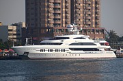 Luxury Yacht Visits Kaohsiung Port Print by Yali Shi