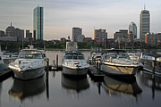 Charles River Photo Prints - Luxury Yachts of Boston Print by Juergen Roth