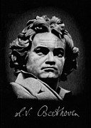 Orchestra Drawings Metal Prints - L.V. Beethoven Metal Print by Ryan Hill