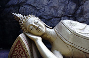 Bronze Pyrography - Lying Buddha by Mishel Breen