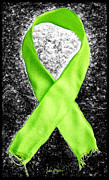 Awareness Digital Art Prints - Lyme Disease Awareness Ribbon Print by Luke Moore
