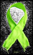 Lyme Disease Awareness Ribbon Print by Luke Moore