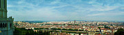 Merged Digital Art Prints - Lyon From The Basilique de Fourviere-color Print by Paulette Wright
