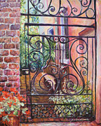 Alice Grimsley Metal Prints - Lyrical Gate Metal Print by Alice Grimsley