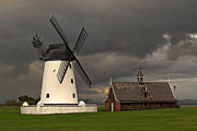 John Collier Framed Prints - Lytham windmill Framed Print by John Collier