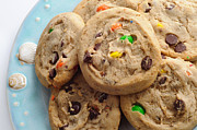 Cookie Prints - M And M - Chocolate Chip - Cookies - Bakery Shop Print by Andee Photography