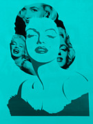Norma Jean Prints - M M in TURQUOIS Print by Rob Hans