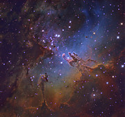 Messier 16 Prints - M16, The Eagle Nebula In Serpens Print by Robert Gendler