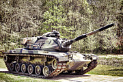 Army Tank Prints - M60 Patton Tank Print by Olivier Le Queinec