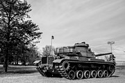 M60a3 Tank Prints - M60A3 Patton Tank at Park Print by PhotogNinja Noel Adams