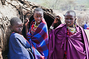 Kid Art - Maasai children portrait in Tanzania by Michal Bednarek