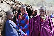 Maasai Children Portrait In Tanzania Print by Michal Bednarek