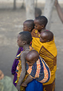 Jay Fries - Maasai Children Watching...