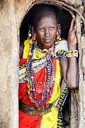 Thomas Chamberlin - Maasai Woman in Doorway...