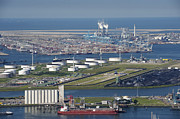 Enterprise Metal Prints - Maasvlakte, Europort, Rotterdam Metal Print by Bram van de Biezen