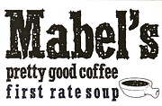 Mabels Cafe Print by Jeff Gater