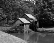 Grist Photos - Mabry Mill 3 by Mel Steinhauer