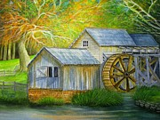 Mabry Mill Paintings - Mabry Mill by David Richardson