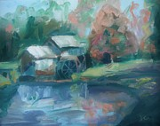 Iconic Paintings - Mabry Mill by Donna Tuten