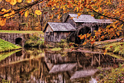 Framing Posters - Mabry Mill in Autumn Poster by Olahs Photography