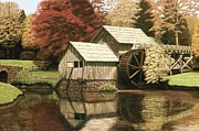 Mabry Mill Paintings - Mabry Mill in Virginia by Kelvin Seabolt