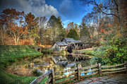 Mabry Framed Prints - Mabry Mill Framed Print by Jaki Miller
