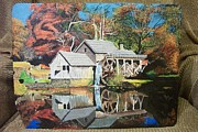 Grist Mill Paintings - Mabry Mill by Joseph Phillips