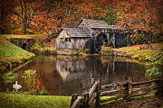 Mabry Mill Print by Priscilla Burgers