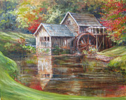 Mabry Paintings - Mabry Mill SOLD  by Gloria Turner