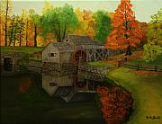 Grist Mill Paintings - Mabry Mill by Timothy Smith