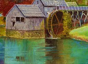 Grist Mill Paintings - Mabry Mill View by Anne-Elizabeth Whiteway